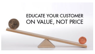 Educate on value not price