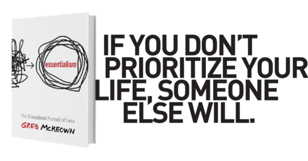 Essentialism Book Cover and Quote